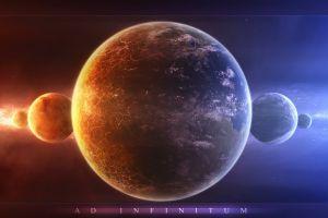 planet space space art digital art symmetry