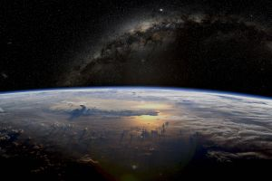 planet stars earth space space atmosphere