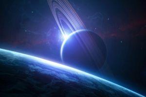 planetary rings digital art planet space art space