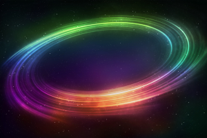 planetary rings digital art space art abstract colorful