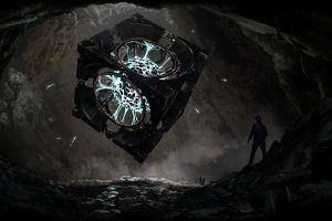 plasma cave x-com digital art fantasy art cube
