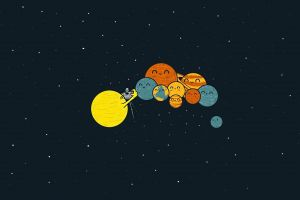 pluto solar system space art humor space