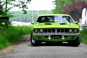 plymouth barracuda numbers green cars car vehicle