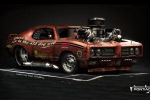pontiac pontiac gto cgi digital art car vehicle render muscle cars red cars