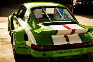 porsche car green cars