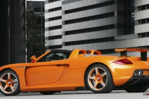 porsche carrera gt car orange cars