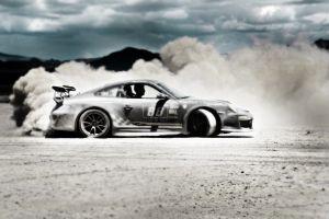 porsche porsche 911 porsche 911 gt3 rs desert car vehicle drift dust