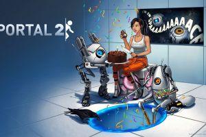 portal 2 chell p-body aperture laboratories video games