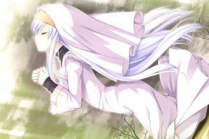 praying anime girls anime