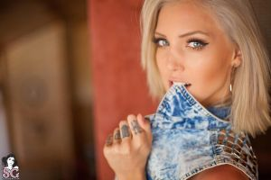 priscila d'avila women face model suicide girls blue eyes tattoo blonde