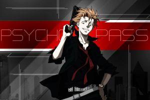 psycho-pass gun anime boys anime