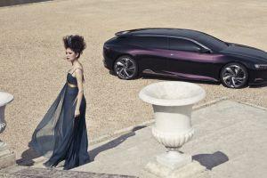 purple cars women with cars station wagon concept car car citroen numero 9