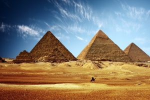 pyramid pyramids of giza egypt desert