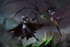 queen of blades sylvanas windrunner fantasy art video games world of warcraft starcraft