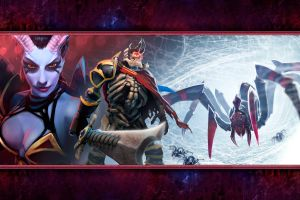 queen of pain broodmother skeleton king  dota 2 video games