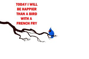 quote birds typography white background animals minimalism white french fries