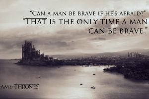 quote game of thrones monochrome typography