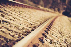 railroad track metal railway