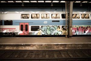 railway graffiti train vehicle