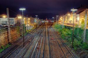 railway trier (city) night