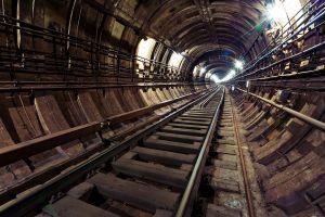 railway underground architecture subway lights tunnel