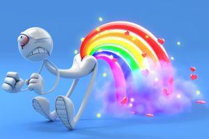 rainbows bleeding eyes artwork