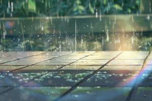 rainbows summer pavements anime rain makoto shinkai  sunlight