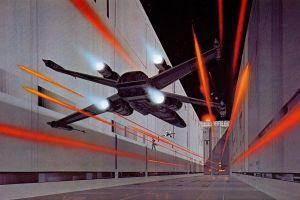 ralph mcquarrie x-wing star wars death star painting artwork