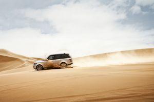 range rover car desert vehicle