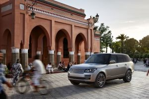 range rover vehicle car city silver cars