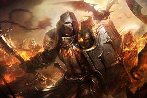 raven diablo iii warrior video games fantasy art