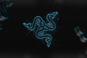 razer digital art logo artwork blue abstract