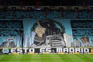 real madrid supporters soccer stadium