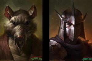 realistic fantasy art teenage mutant ninja turtles shredder