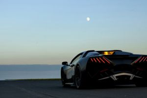 rear view car prototype supercars moon vehicle arrinera automotive s.a.