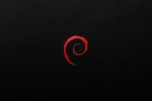 red black background artwork linux minimalism black debian