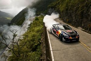 red bull smoke race cars drift mountain pass vehicle road hyundai brazil touge car