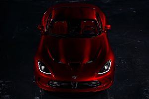 red cars car coupe dodge viper sports car