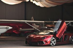 red cars sports car lamborghini aventador car coupe