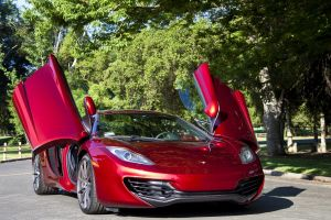 red cars trees vehicle mclaren mp4-12c mclaren car