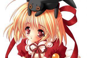 red eyes anime blonde anime girls