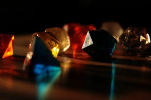red simple background dark dice