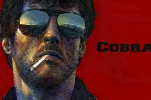 red sylvester stallone smoking actor glasses cobra (movie)