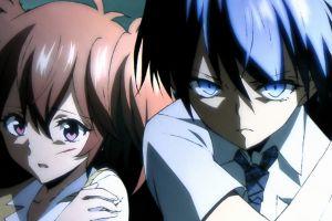 redhead blue hair azuma tokaku blue eyes ichinose haru red eyes anime girls akuma no riddle