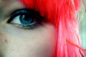 redhead face women blue eyes eyes closeup