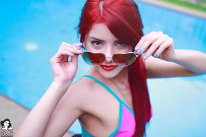 redhead swimming pool armpits women suicide girls glasses ness suicide