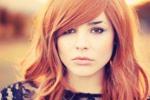 redhead women face model