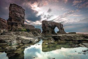 reflection sky nature rock