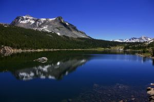 reflection trees mountains landscape lake canada nature water