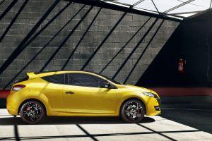 renault megane rs car yellow cars